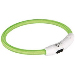 Flash lysring USB, L-XL: 65 cm/ø 7 mm, grøn